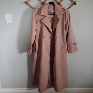 VINTAGE MAR LO Dusty Rose Pink Trench Coat